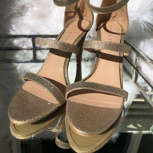 Kelly & Katie Rose Gold Heels size 11